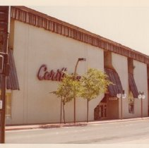 Image of Carithers Department Store on First St., April 10, 1977