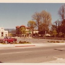 Image of Parking lot on the site of the Old Carithers Building, April 10, 1977