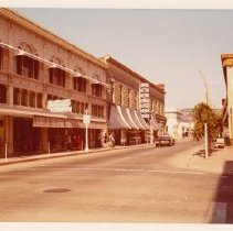 Image of Businesses on First St., October 1, 1972