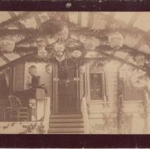 Image of 2015.32.19 - Decorated porch of the Goodman Mansion