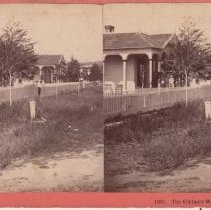 Image of 2015.35.12 - Stereoscope of Calistoga Hot Springs cottages