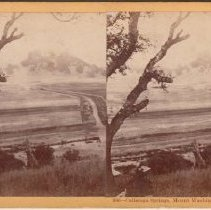 Image of 2015.35.2 - Stereoscope of Calistoga Hot Springs and Mt. Washington from Mt. Lincoln