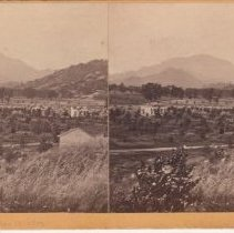 Image of 2015.35.4 - Stereoscope of Calistoga and Mt. St. Helena