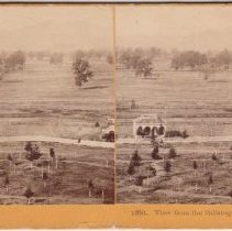 Image of 2015.35.6 - Stereoscope of the view from the Calistoga Hotel