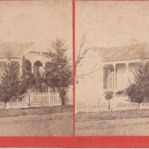 Image of 2015.35.7 - Stereoscope of a cottage at the Calistoga Hot Springs