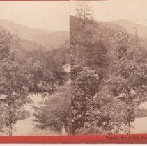Image of 2015.35.13 - Stereoscope of the landscape around White Sulphur Springs resort