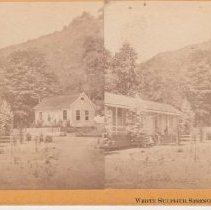 Image of 2015.35.14 - Stereoscope of cottages at White Sulphur Springs