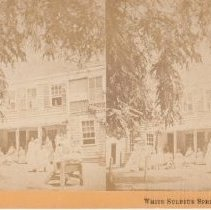 Image of 2015.35.16 - Stereoscope of guests at White Sulphur Springs