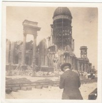 Image of 2015.39.7 - People at the remains of San Francisco City Hall
