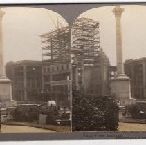 """Image of 2016.24.5 - """"Dewey Monument East Over Union Square toward Call Building, Frisco Ruins, April 1906"""""""