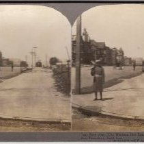 """Image of 2016.24.7 - """"Van Ness Ave., The Western Fire Limit, North from Vlay St., San Francisco, April 1906"""""""