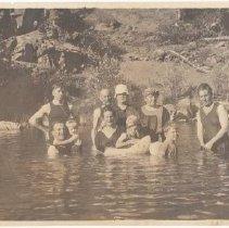 Image of 1978.24.7 - Family swimming at Lombardi's Resort