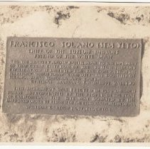 Image of 2016.59.1 - Photograph of the plaque on the statue of Sem-Yeto