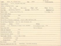 Image of Selective Service Record - X1994.63.85