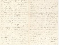 Image of Letter - Harper Carroll to wife (Page 2) 10/5/1863