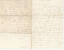 Image of Letter - Harper Carroll to Wife (Page1) 10/5/1863