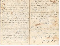 Image of second letter from friend in Baton Rouge 1862 b.) Page 2 L2012.34.23.