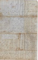Image of 1862 letter to a friend in Baton Rouge a.) Page 1 L2012.34.23