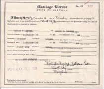 Image of Aaron, Vernon J. Marriage License