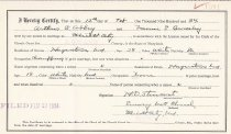 Image of Marriage License of: Abbey, Arthur E. and Brodsley, Naomi E.                                                                                                                                                                                               - 2017.102.00004