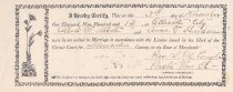 Image of Marriage License of: Abbott, Albert F. and Harden, Anna T.                                                                                                                                                                                                 - 2017.102.00009
