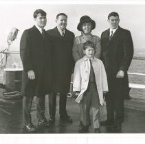 Image of Walsh Family:  John, Dr. Walsh, Mrs. Walsh, Bill, Tom (in front)