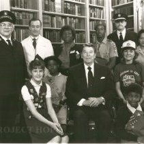 Image of Volunteer PSA Group with President Ronald Reagan; John Wilhelm, MD