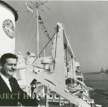 Image of William B. Walsh - Dr. Walsh onboard the SS HOPE