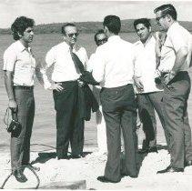 Image of Sergio Brito, Governor Cortez Pereria, Dr. Antinor Porpino, Adm. Tertius Re