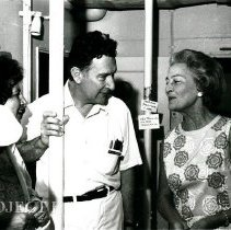 Image of Mrs. Warburg with Drs. Nina and Alex Randall.