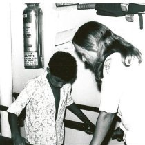 Image of HOPE physical therapist Anita Lystad with patient.