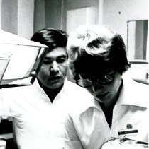 Image of Close-up of Linda Warren and her counterpart.