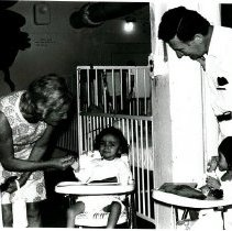 Image of Brazil Natal - Mrs. Paul Felix Warburg with Dr. Alex Randall in Pediatrics 1.