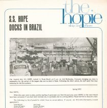 "Image of Newsletters - ""the hopie""  ship and shore Spring 1972"