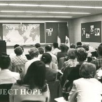 "Image of Bill Walsh, addressing alumni reunion ""the role of HOPE Center"""