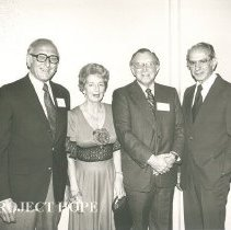 Image of 1978 Dr. Sam Kron, Ethel Black, Dr. Elmer Diskan, Dr. Herb Bloom