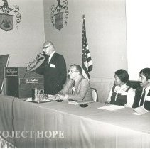 Image of 1979Phili Reunion:  Dr. E. Croft Long, Dr. Elmer Diskan, Sr. Thelma Mitchel