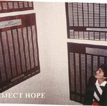 Image of Joanne Jene, MD from Portland OR, in stairway of HOPE Center