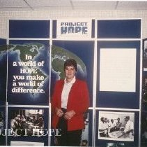Image of Project HOPE Exhibit at HOPE Center, Joanne Jene, MD
