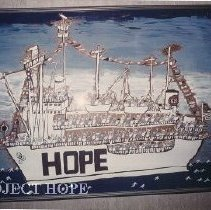 Image of Drawing on wall at HOPE Center of the SS HOPE