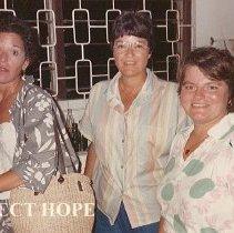 Image of June 1986 - Kay Libbas, Joanne Jene, Debra El Anani (Reister) in Grenada