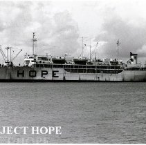 Image of SS HOPE docked in Maceio, Brazil.