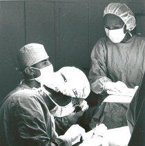 Image of Dr. Finkelman with Brazilian nurse counterpart looking on.
