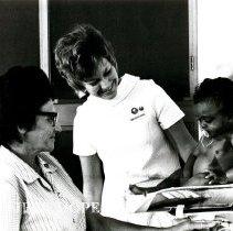 Image of Public Health Nurse, Karen Etchells and Josepha da Sia DaSilva