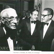 Image of Dr Walsh with Dignitaries - Percival F. Brundage, Dr. Walsh, Dr. Henry Kissinger