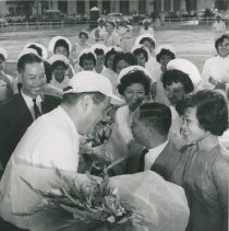 Image of Dr Walsh with Dignitaries - Dr. Walsh arrival and onboard SS HOPE Voyage I Viet Nam