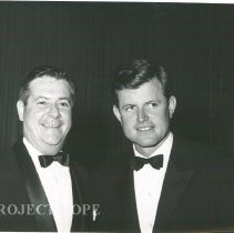 Image of Dr. Walsh and Ted Kennedy at the 1964 HOPE Ball.