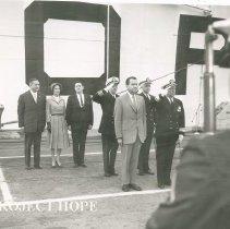 Image of Richard Nixon at SS HOPE Dedication