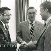 Image of Dr. Walsh, ?, and President Jimmy Carter
