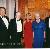 Image of Dr Walsh with Dignitaries - ?, Dr. Walsh, ?, Helen Walsh, Bill Walsh